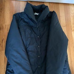 LL Bean cowl neck puffer coat size L